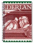Old Dutch Postage Stamp Spiral Notebook