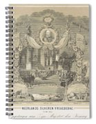 25-year Reign Of William IIi King Of The Netherlands, In 1874, Anonymous, After Hendrik Jan Van Lumm Spiral Notebook