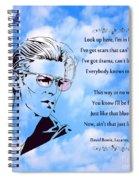 256- David Bowie Spiral Notebook