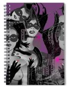 2616 Ladies Masks Man Weapons 2018 Spiral Notebook