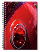 2665- Red Volkswagen  Spiral Notebook
