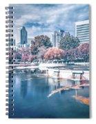 Charlotte North Carolina Cityscape During Autumn Season Spiral Notebook