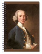 Portrait Of George Hill Sergeant At Law Henry Pickering Spiral Notebook
