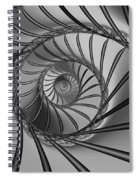 2x1 Abstract 434 Bw Spiral Notebook