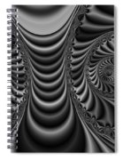 2x1 Abstract 435 Bw Spiral Notebook