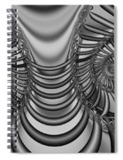 2x1 Abstract 436 Bw Spiral Notebook