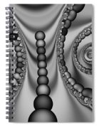 2x1 Abstract 438 Bw Spiral Notebook
