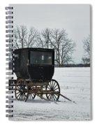 Amish Buggy Near Shipshe Spiral Notebook