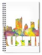 Austin Texas Skyline Spiral Notebook