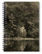 Autumn Lake Boathouse Spiral Notebook