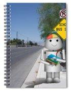 Back To School Little Robox9 Spiral Notebook