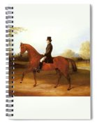 Barraud Henry Richard Paget Of Cropston Leicester On A Bay Hunter Henry Barraud Spiral Notebook