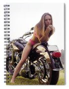 Bikes And Babes Spiral Notebook