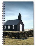 Black Church Of Budir, Iceland Spiral Notebook