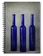 3 Blue Bottles Spiral Notebook