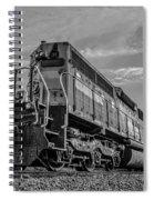 Blue Freight Train Engine At Sunrise  Spiral Notebook
