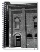 Burlington North Carolina - Arches And Alley Bw Spiral Notebook