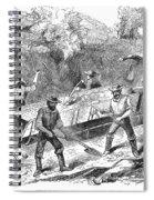 California Gold Rush, 1860 Spiral Notebook