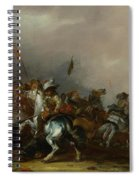 Cavalry Attacked By Infantry Spiral Notebook