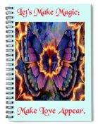 Celestial Butterfly Spiral Notebook