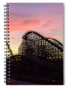Charlotte North Carolina City After Snowstorm And Ice Rain Spiral Notebook