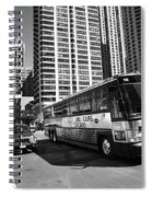 Chicago Bus And Buildings Spiral Notebook