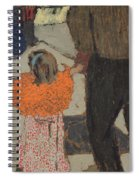 Child Wearing A Red Scarf Spiral Notebook