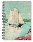 Clear Sailing Spiral Notebook
