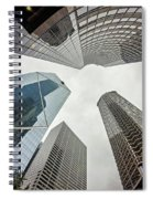 Cloudy And Rainy Day In Seattle Washington Spiral Notebook