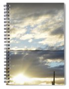 Cloudy Blue Spiral Notebook