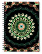 Colorful Kaleidoscope Incorporating Aspects Of Asian Architectur Spiral Notebook