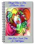 Colors Of Love Spiral Notebook