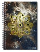 Conceptual Illustration Of Atomic Clock Spiral Notebook