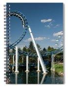 Cork-screw Rollercoaster And Ferris-wheel Spiral Notebook