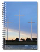 3 Cross Sunset Spiral Notebook