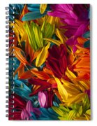Daisy Petals Abstracts Spiral Notebook