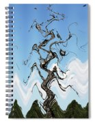 Dead Pine Tree Abstract Spiral Notebook