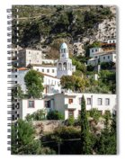 Dhermi Traditional Village View In Southern Albania Spiral Notebook