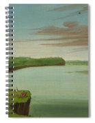 Distant View Of The Mandan Village Spiral Notebook