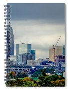Dramatic Sky And Clouds Over Charlotte North Carolina Spiral Notebook