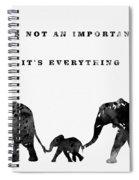 Elephant Family-black Spiral Notebook