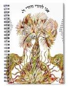Elephants Ketubah- Reformed Humanistic Version Spiral Notebook
