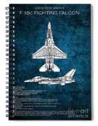 F16 Fighting Falcon Spiral Notebook