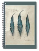 3 Feathers And Quote Spiral Notebook