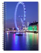 Ferris Wheel At The Waterfront Spiral Notebook