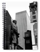 Film Homage The Fighting 69th 1940 Fr. Duffy Statue Yul Brynner Palace Theater New York 1977 Spiral Notebook