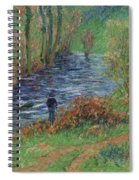 Fisher On The Bank Of The River Spiral Notebook