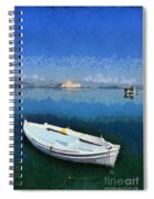 Fishing Boats In Nafplio Town Spiral Notebook