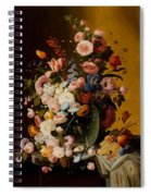 Flowers In A Glass Pitcher Spiral Notebook
