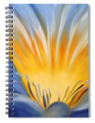 From The Heart Of A Flower Blue Spiral Notebook